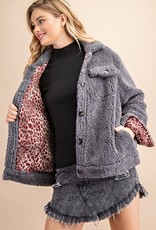 Sherpa button up jacket