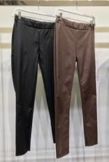 Faux leather jegging