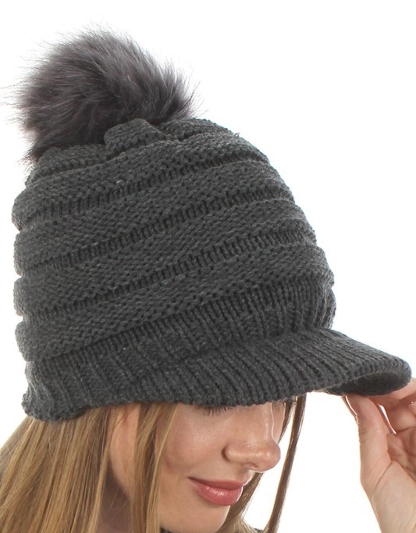 Knit visor