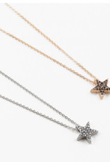 Star moon and bolt necklace
