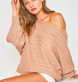 Cable dolman sweater