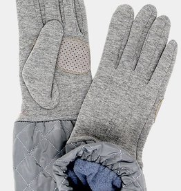 Quilted smart gloves