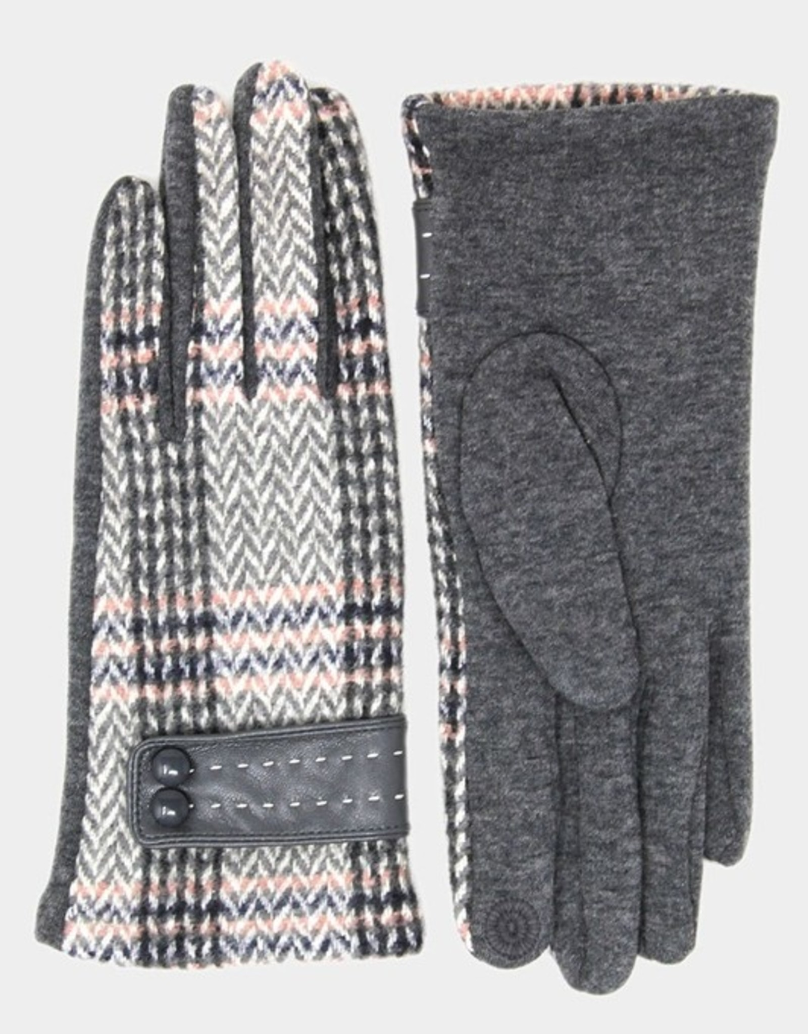 Plaid smart gloves