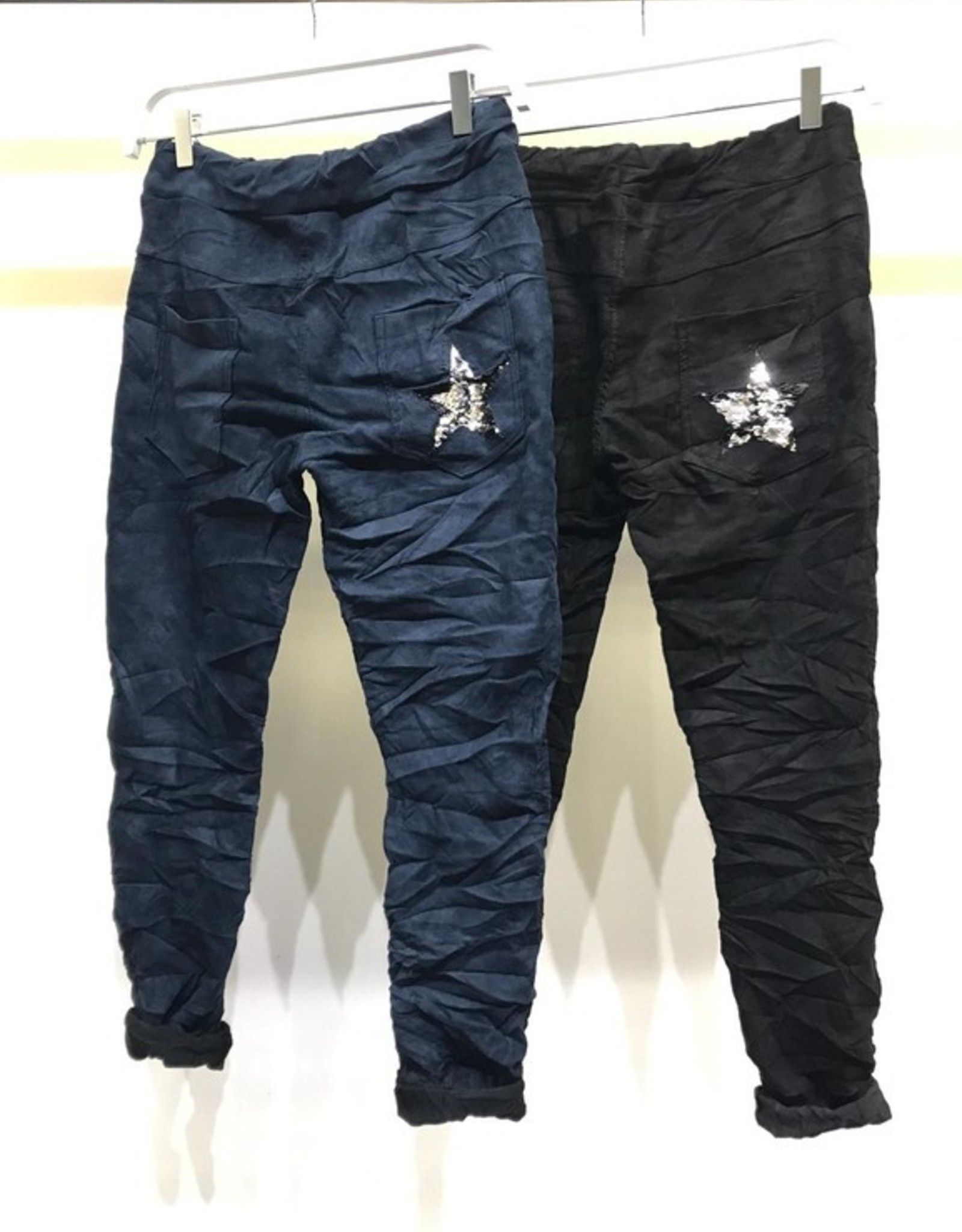 Sueded star pant