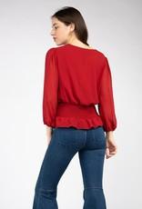 Smocked waist blouse