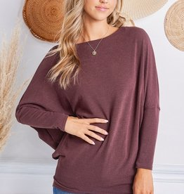 Crepe on-off shoulder