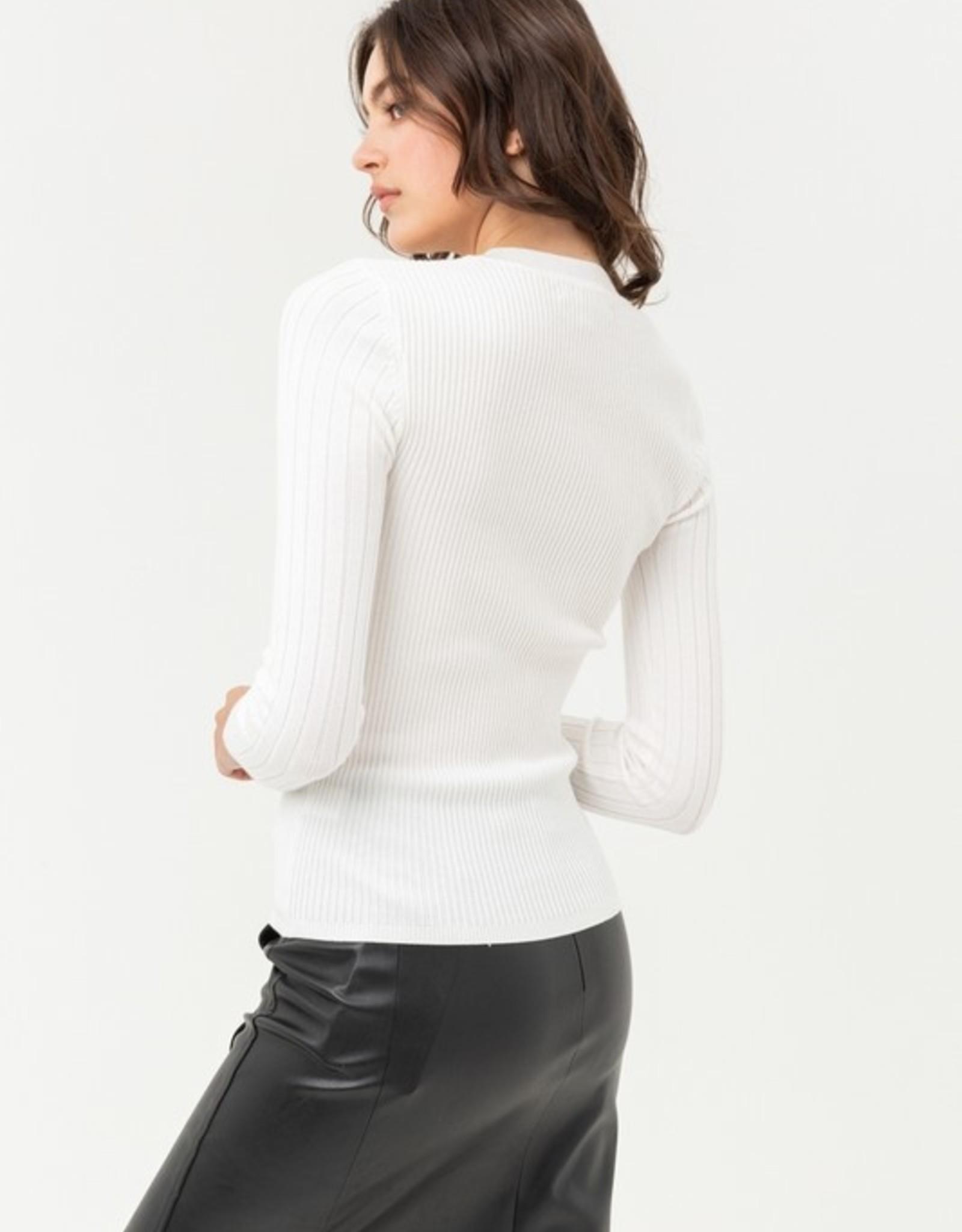 Ribbed long sleeve top