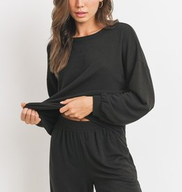 Balloon sleeve sweat top