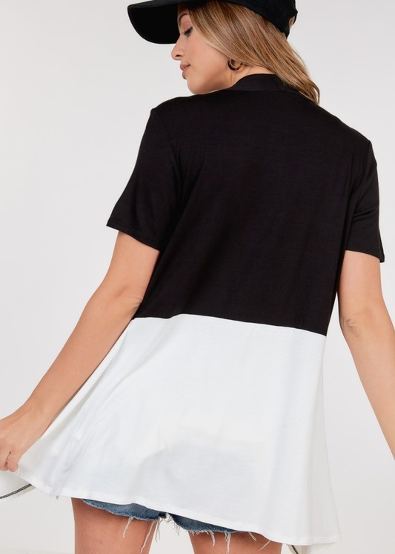 short sleeve open cardigan