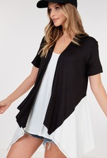 short sleeve open cardigan