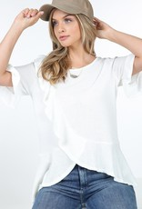 Thermal ruffle crossover top