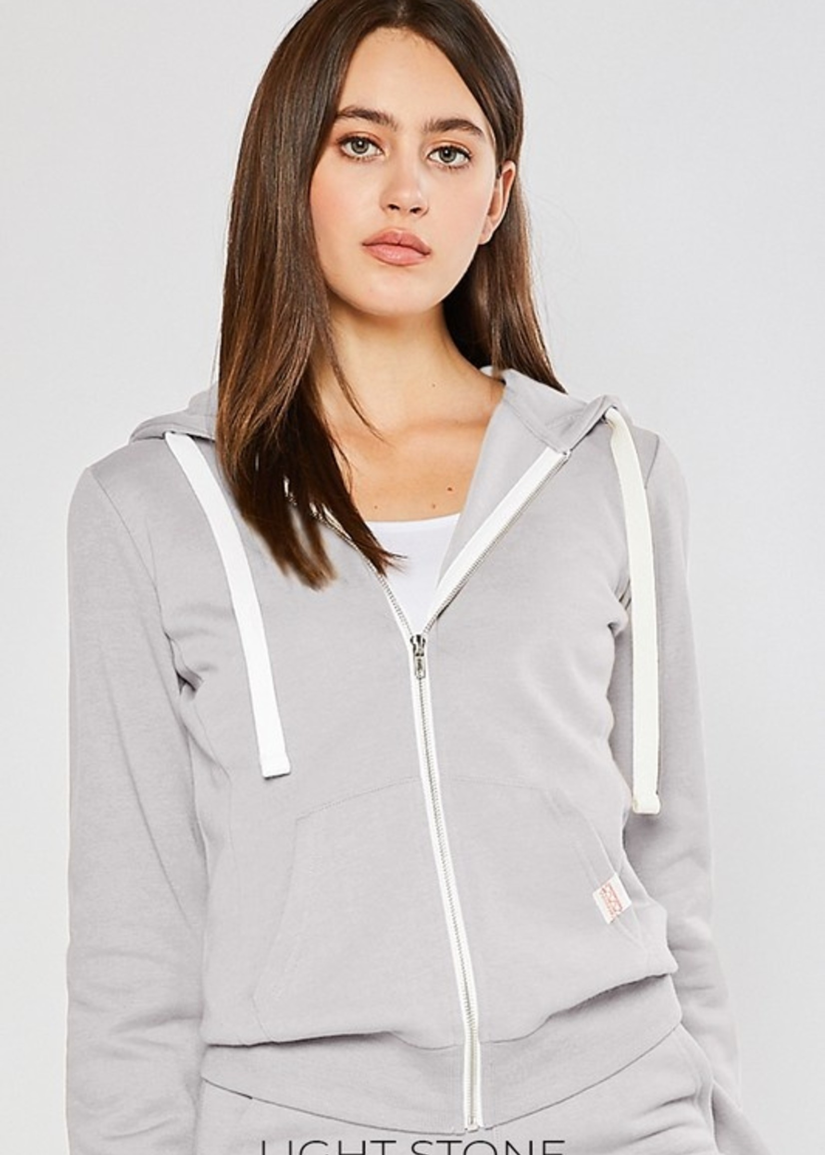 Zip hoodie jog set