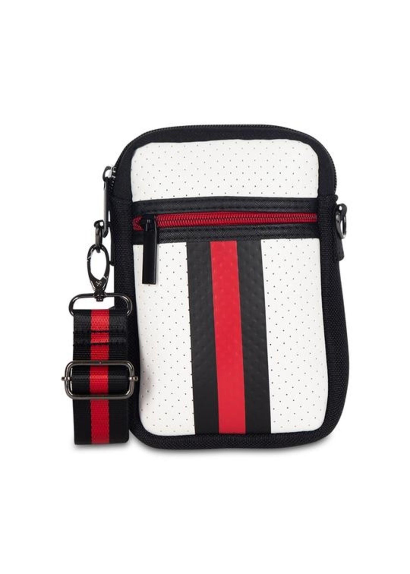 Black/wht/red phone bag