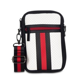 Black/wht/red phone bag