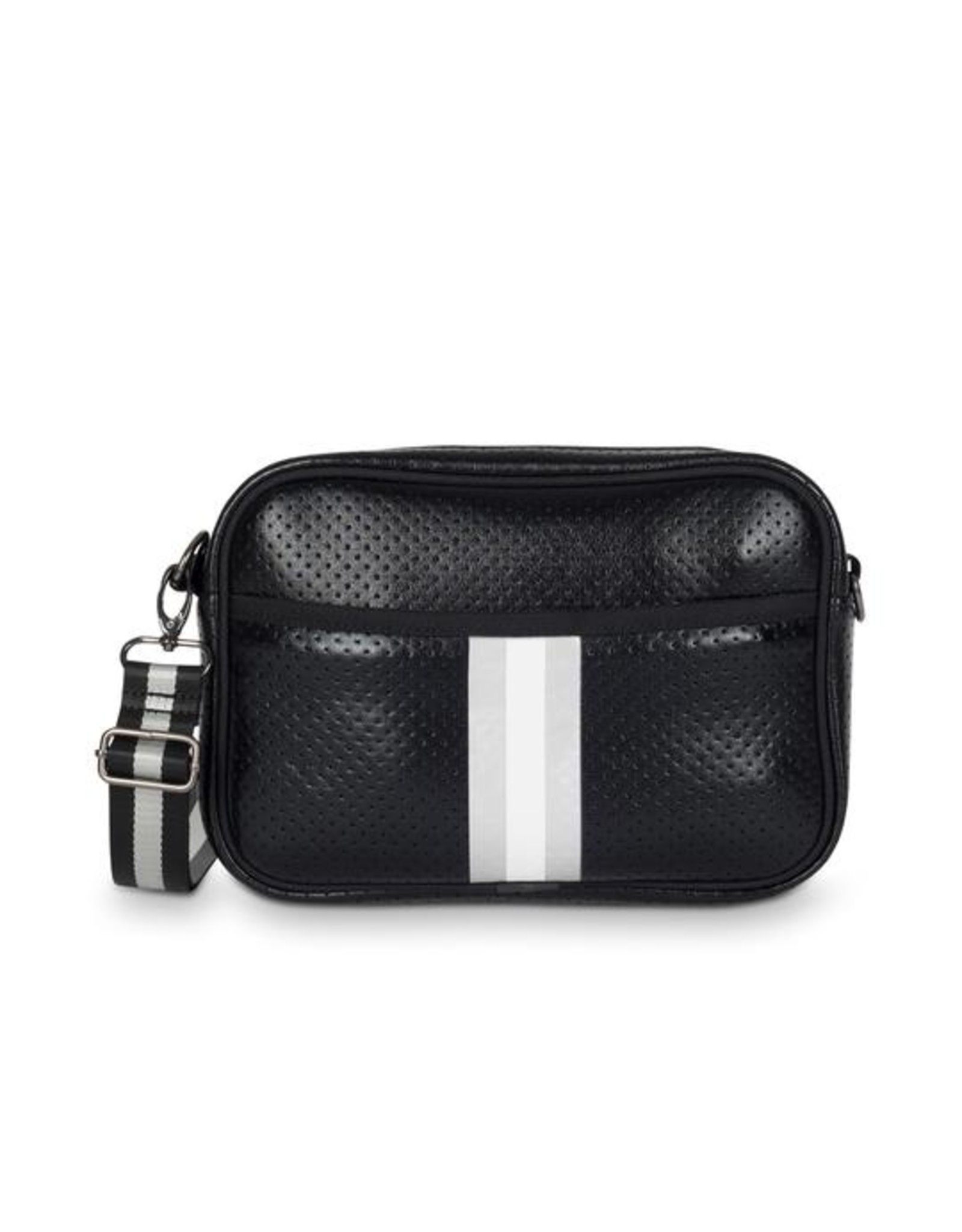 Black with silver and white crossbody