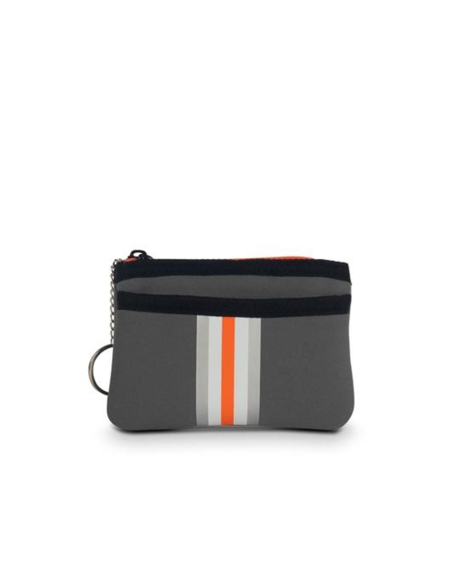 Grey orange/silver card case