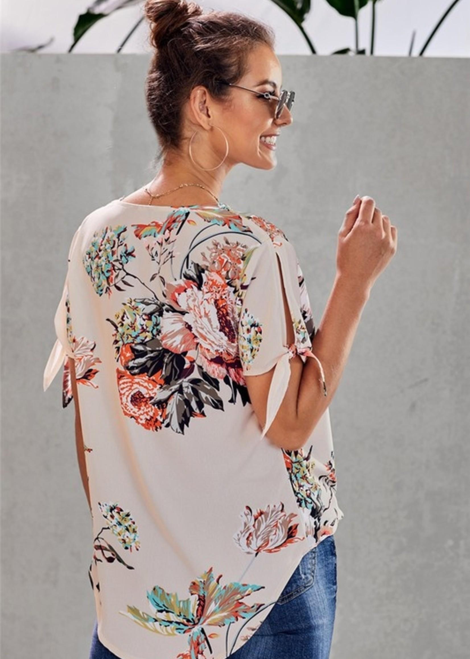 Floral print crossfront