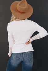 Crochet sleeve rib henley