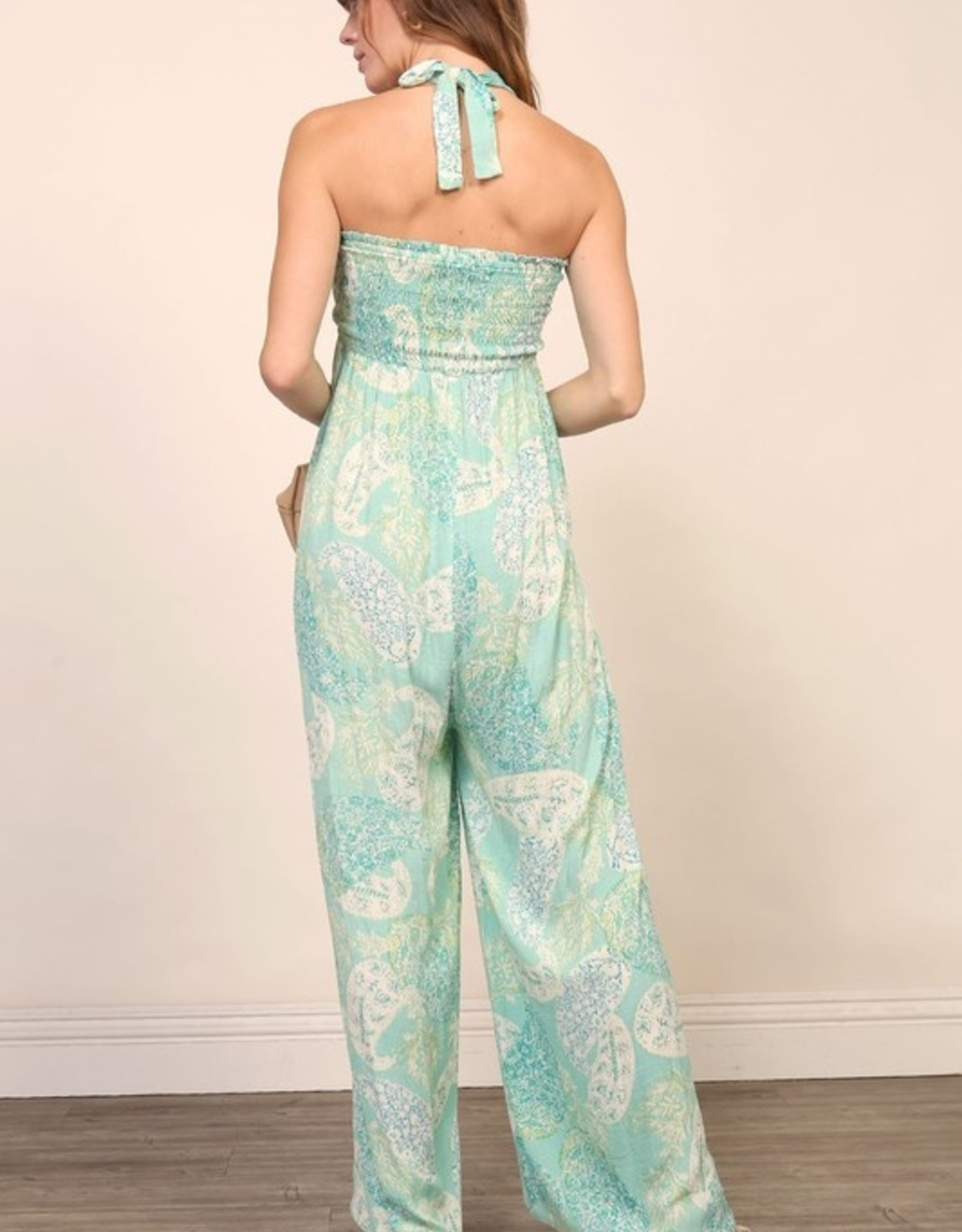 Print wideleg jumpsuit