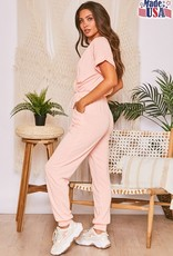 French terry jumpsuit