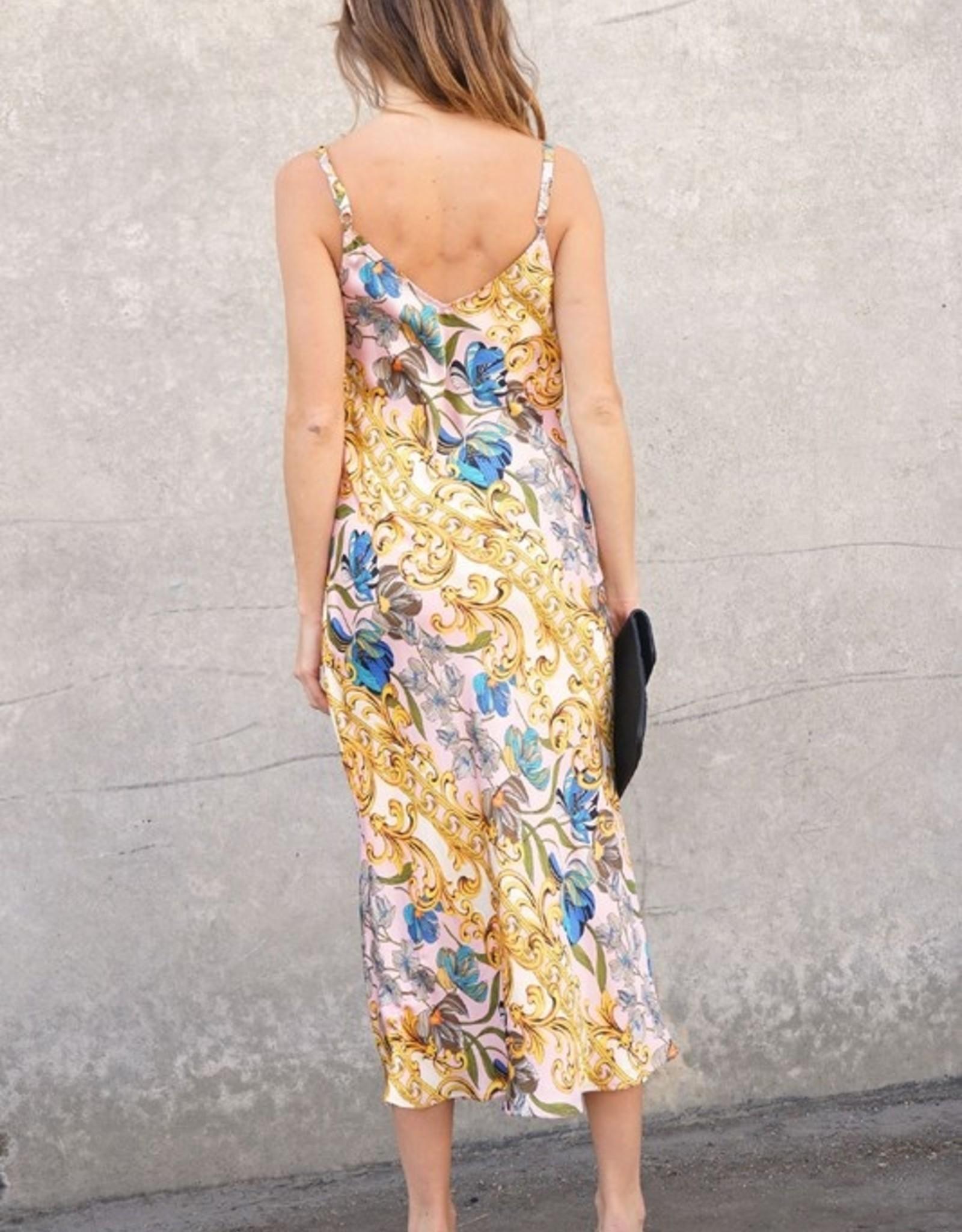 Satin print dress