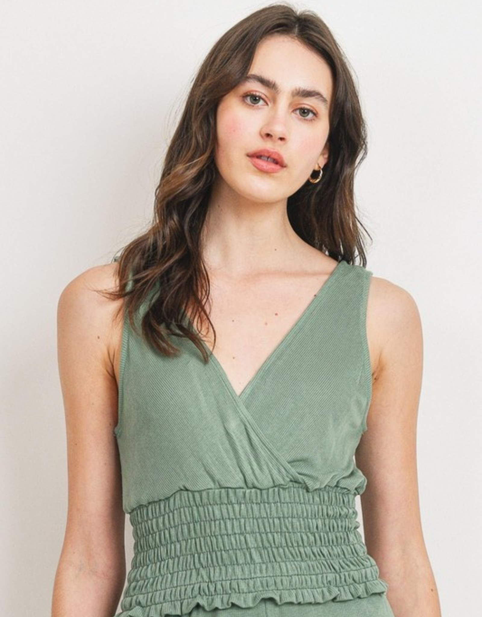 Ribbed surplice tank