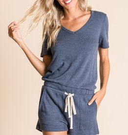 French terry sweat romper