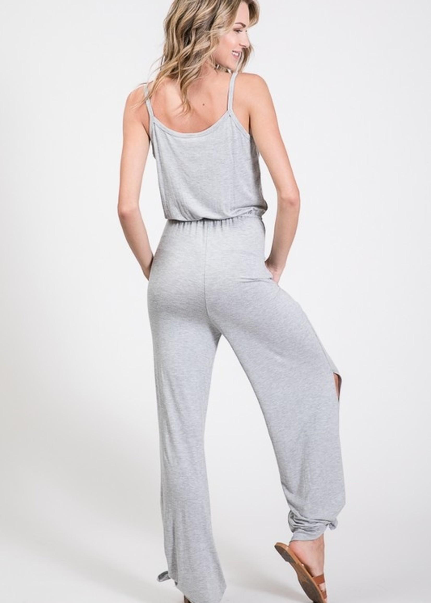 Side split jumpsuit