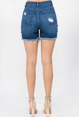 Fray hem jean short
