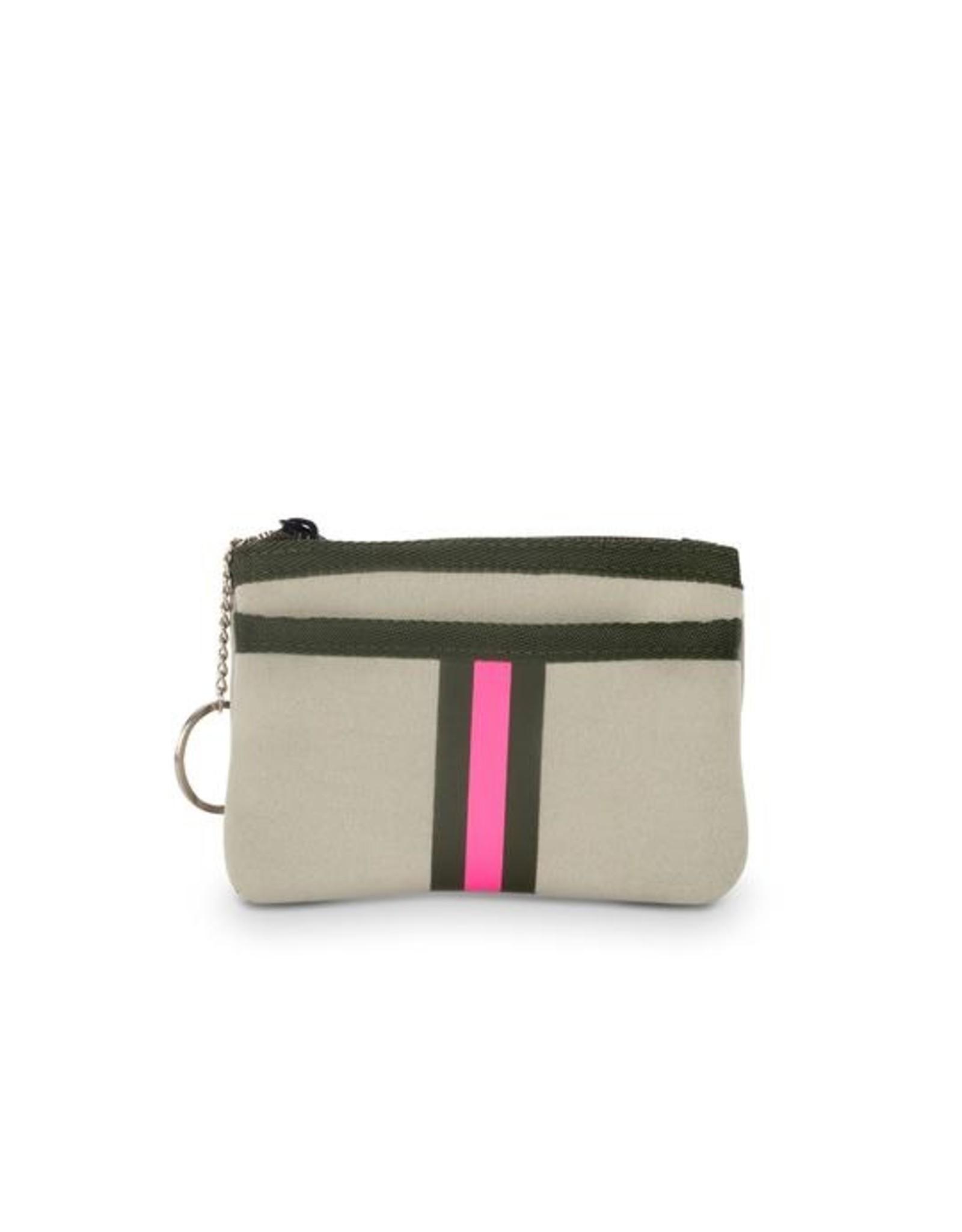 beige/army/pink card case