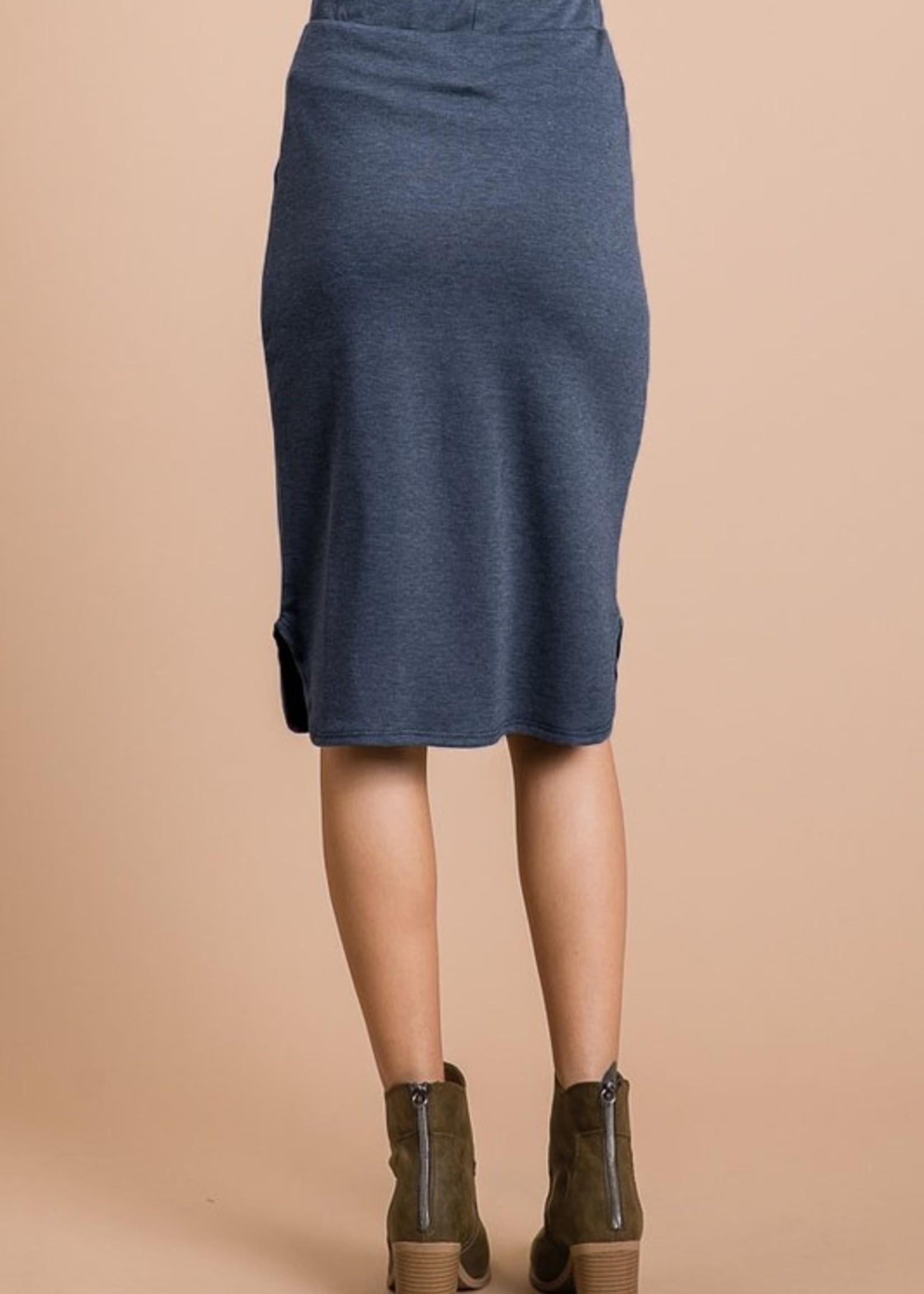 Elastic waist midi
