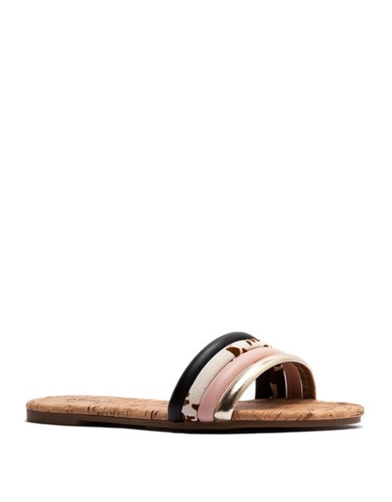 Cork multi flat sandal