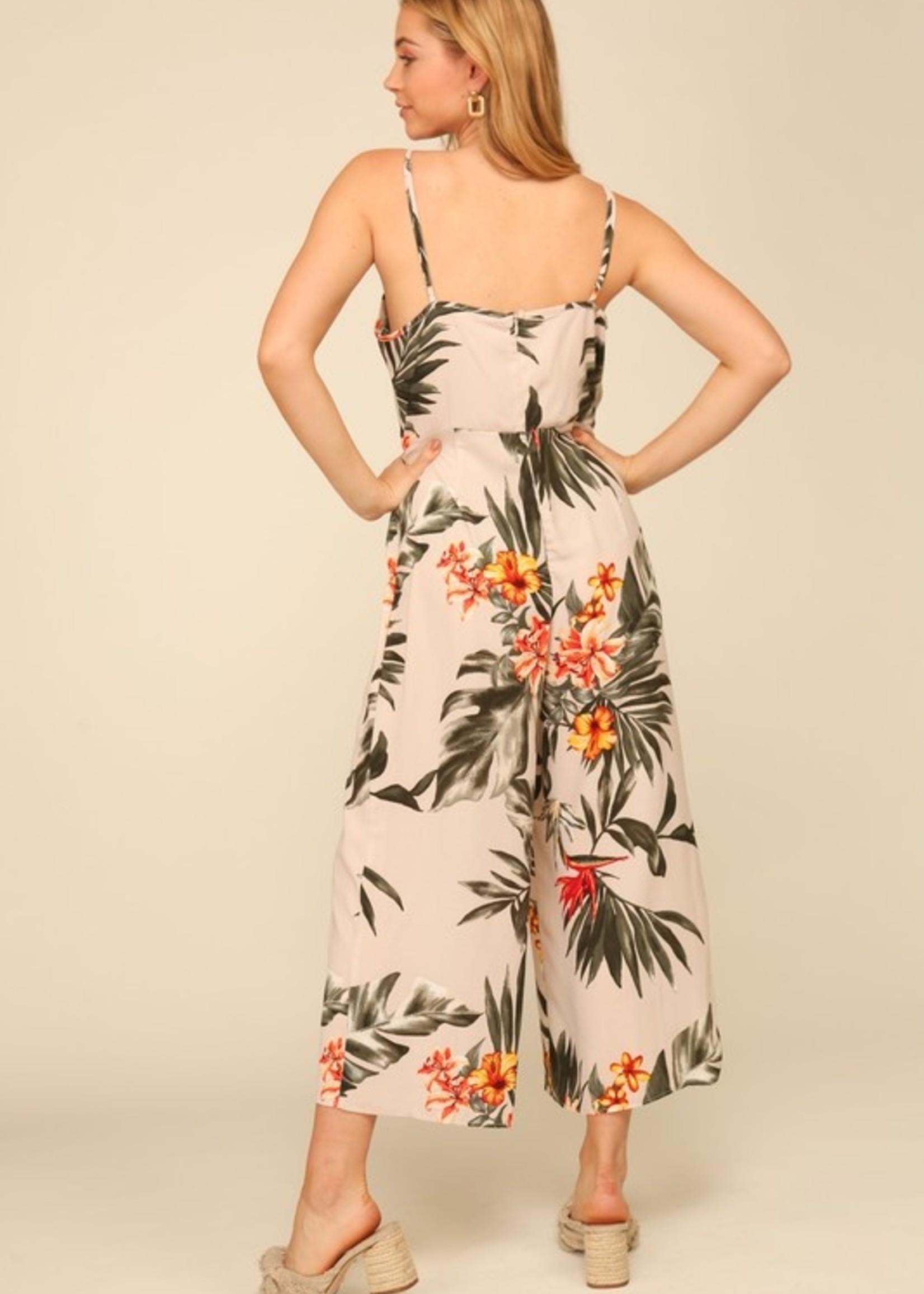 Floral wideleg jumpsuit