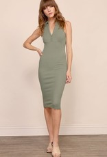 Bodycon dress with collar