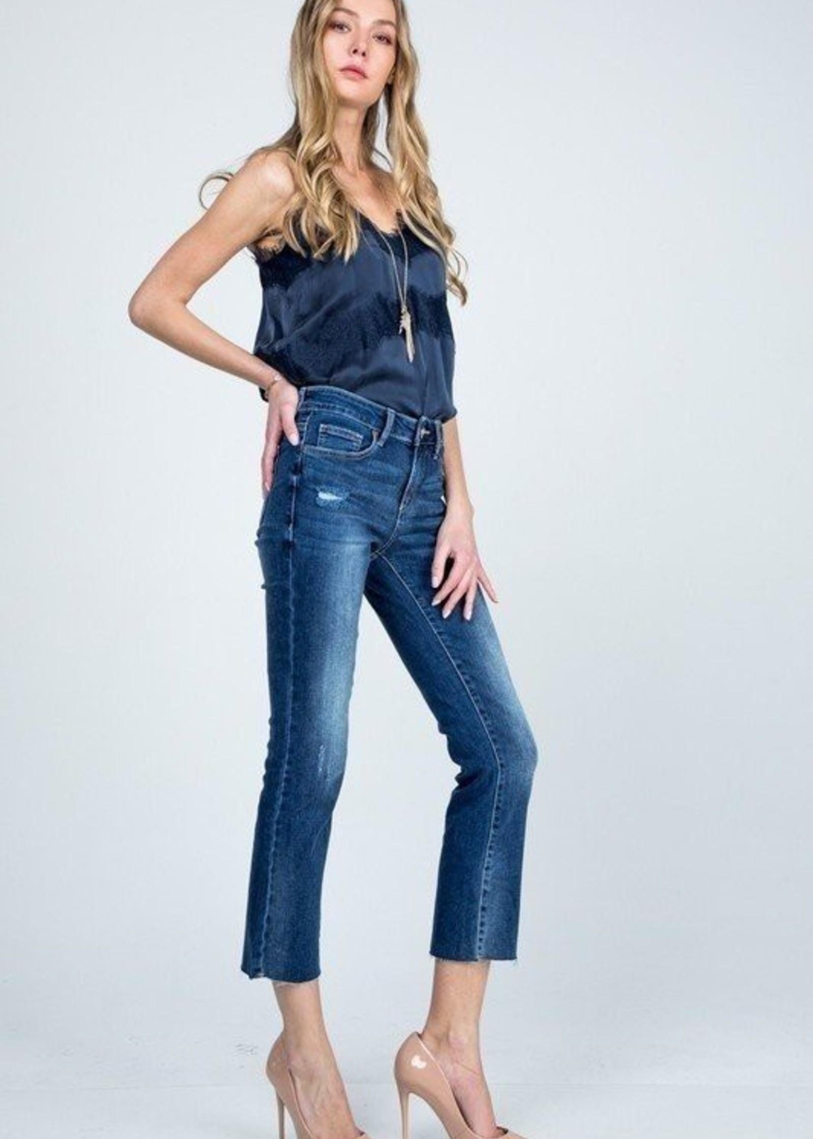 Crop slim straight jean