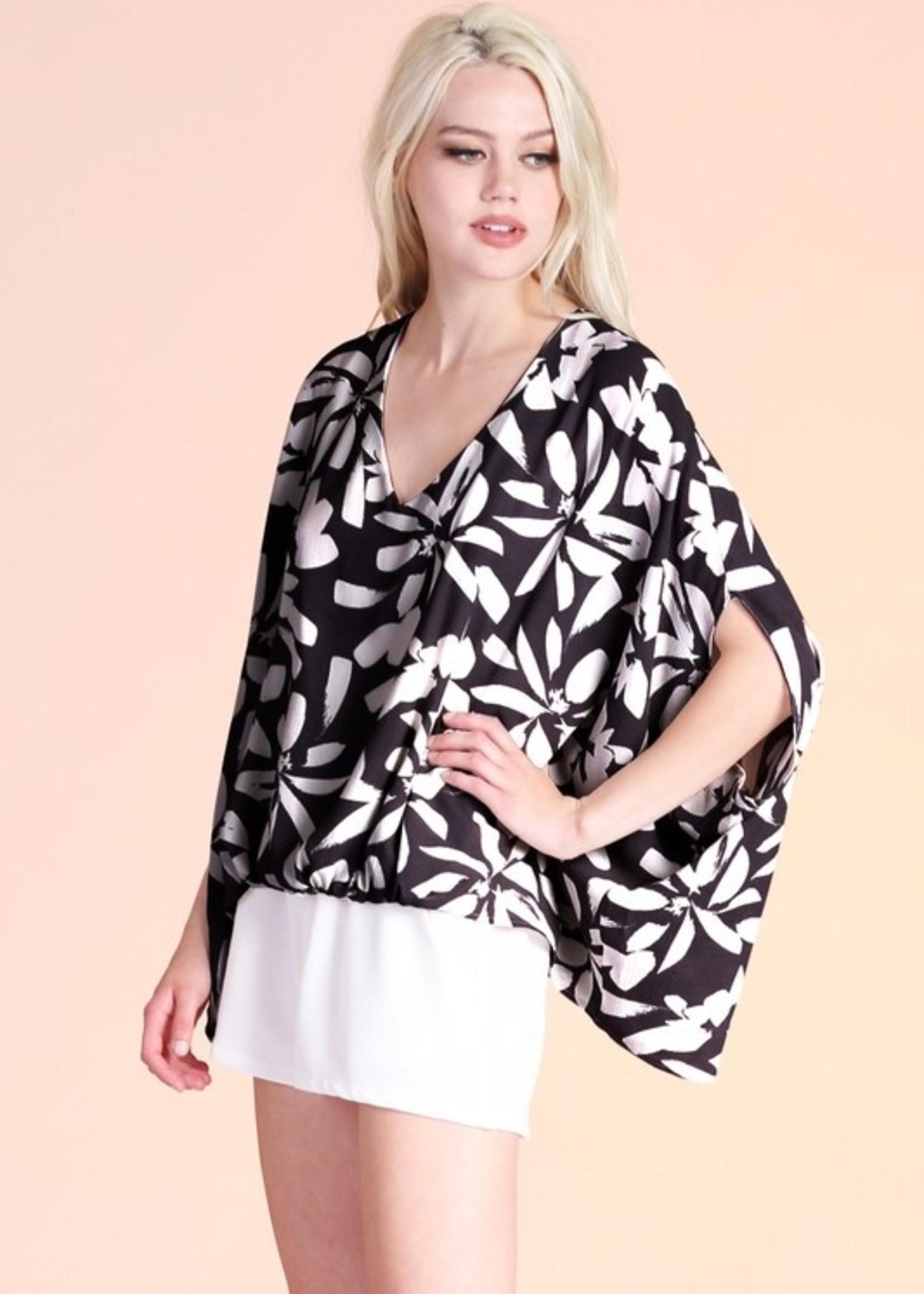 Daisy print blouse