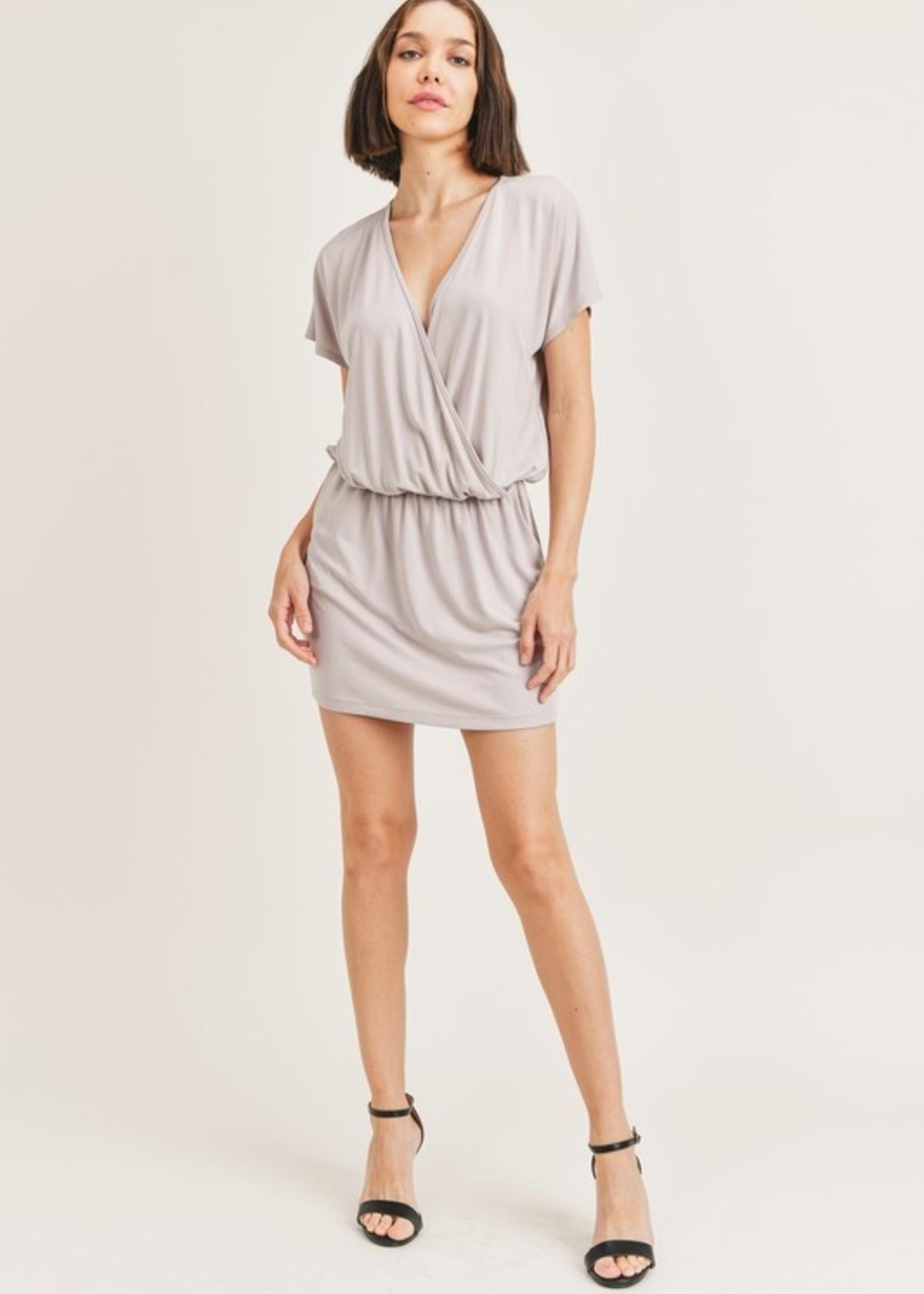 Surplice mini dress