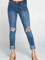 Midrise cuff jean