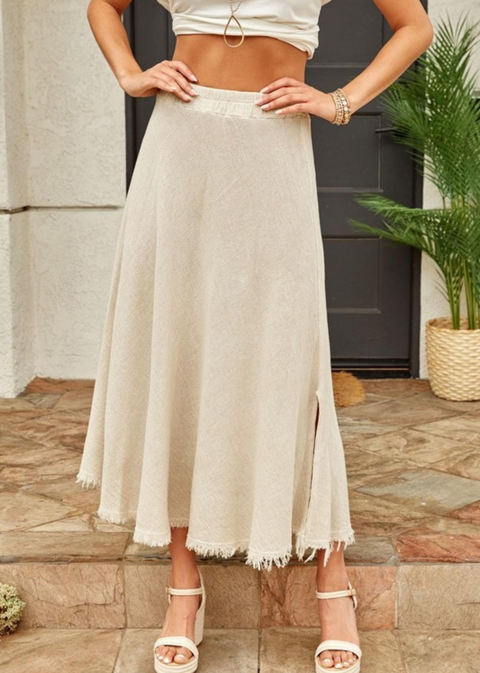 Side slits maxi skirt