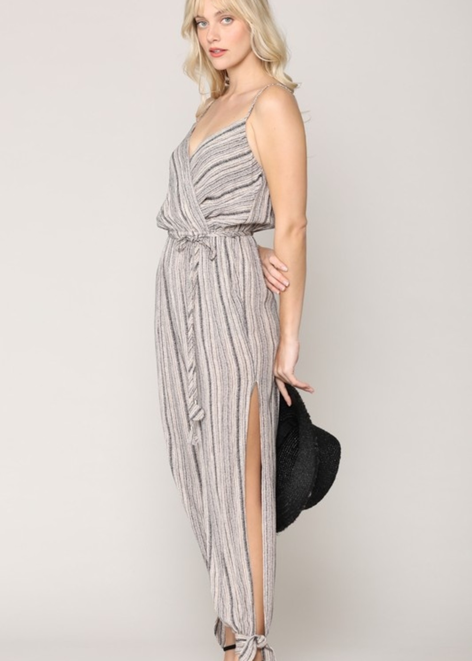 Belted tank jumpsuit