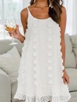 Swiss dot ruffle mini dress