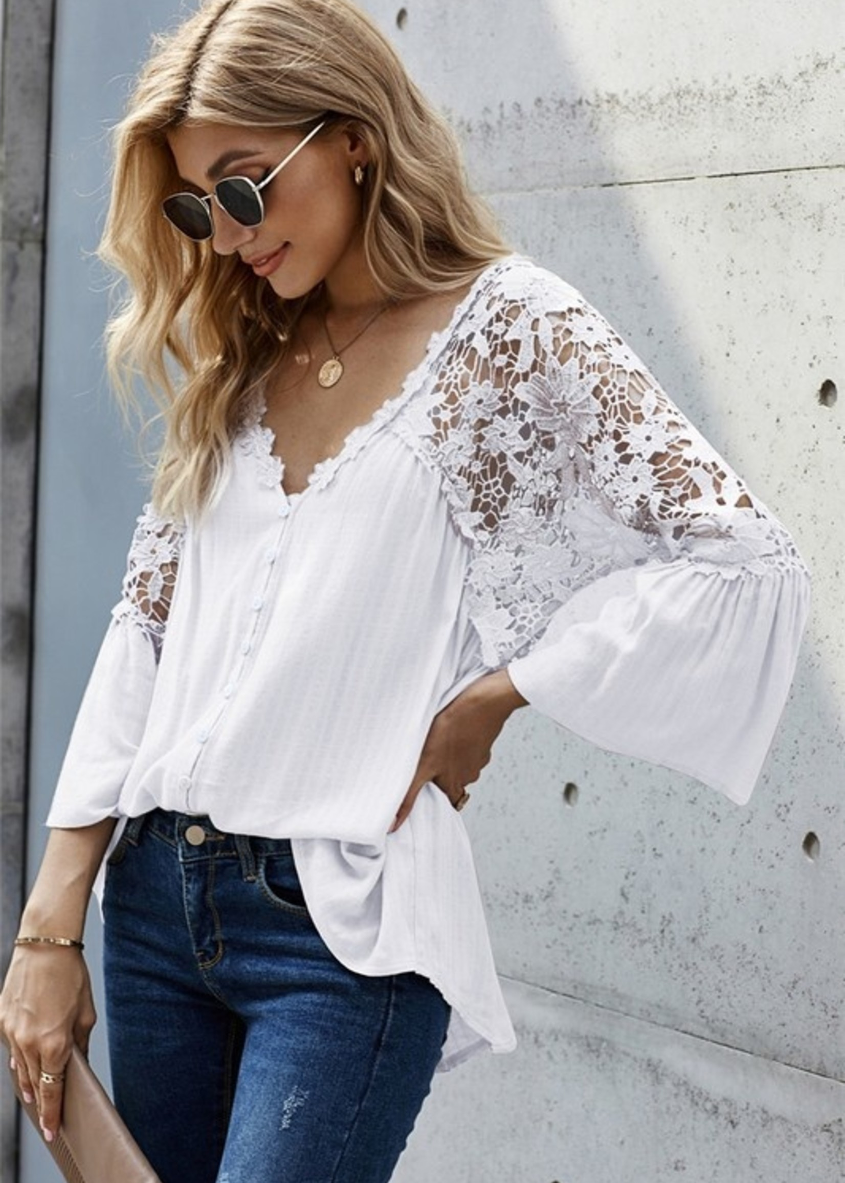 Crochet detail blouse