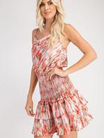 Print cowl dress 2 colors