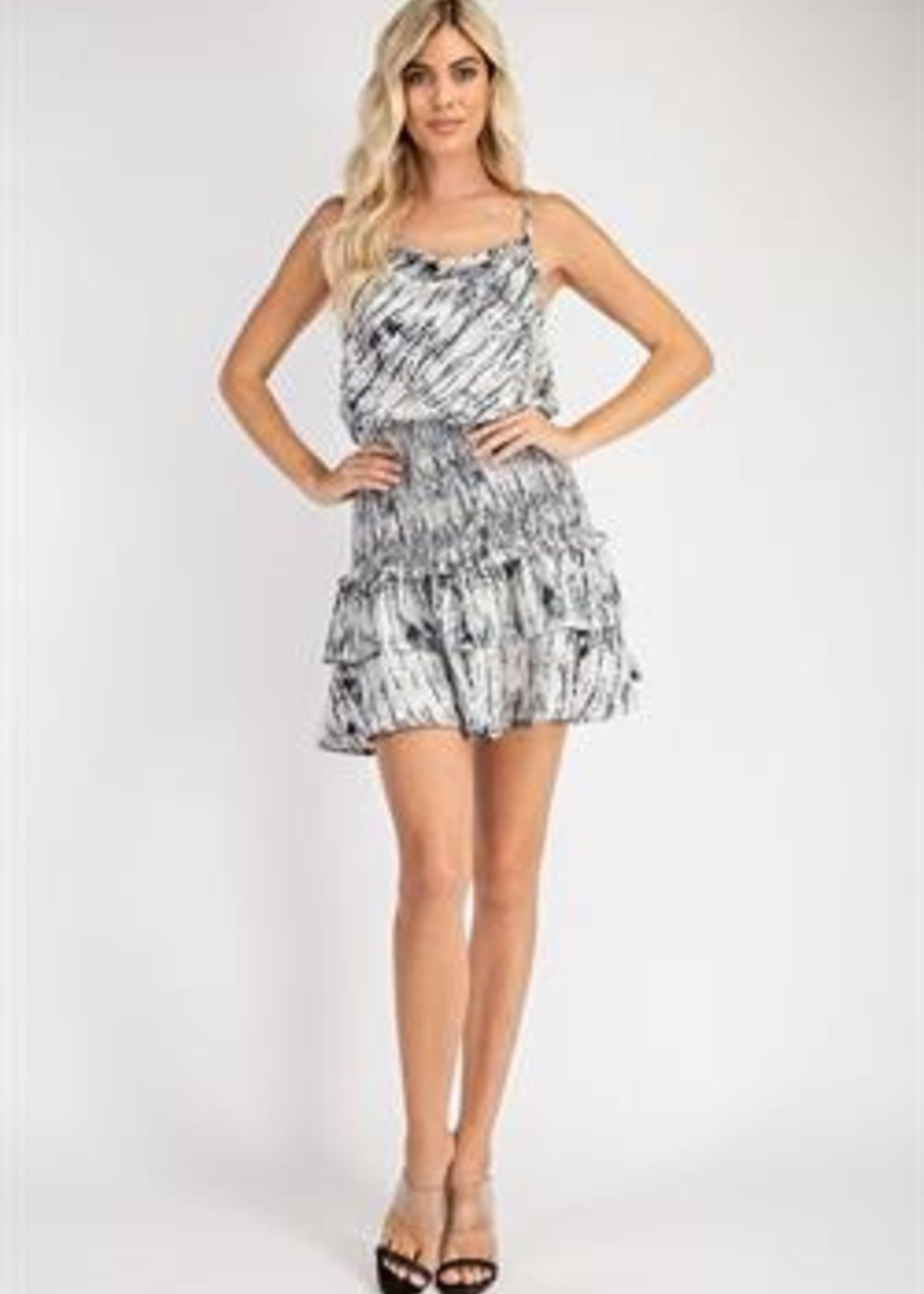 Print cowl dress