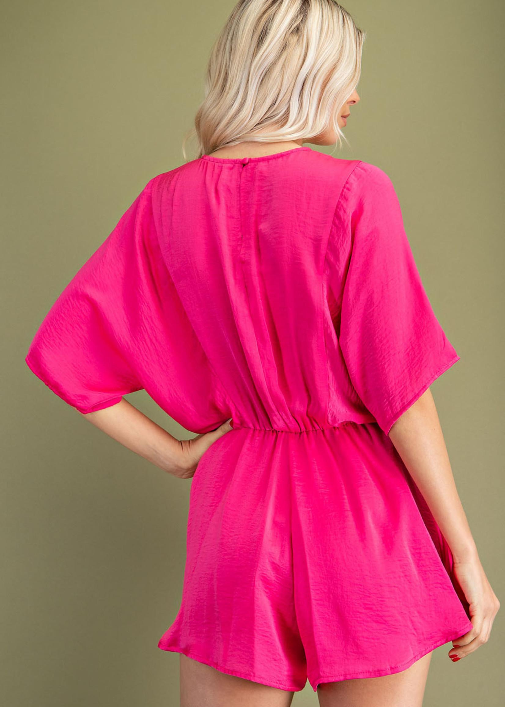 Kimono sleeve romper