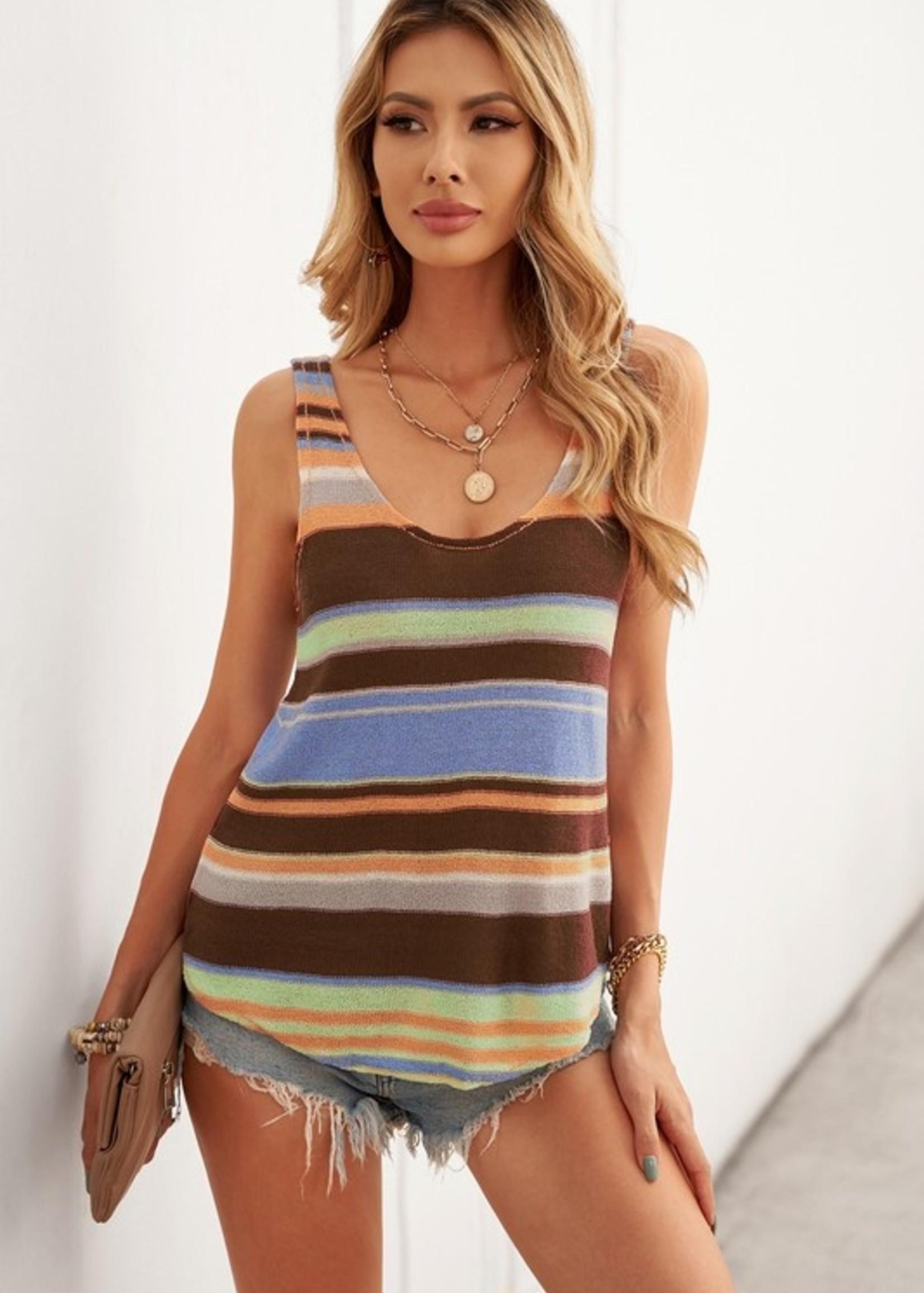 Knit stripe tank