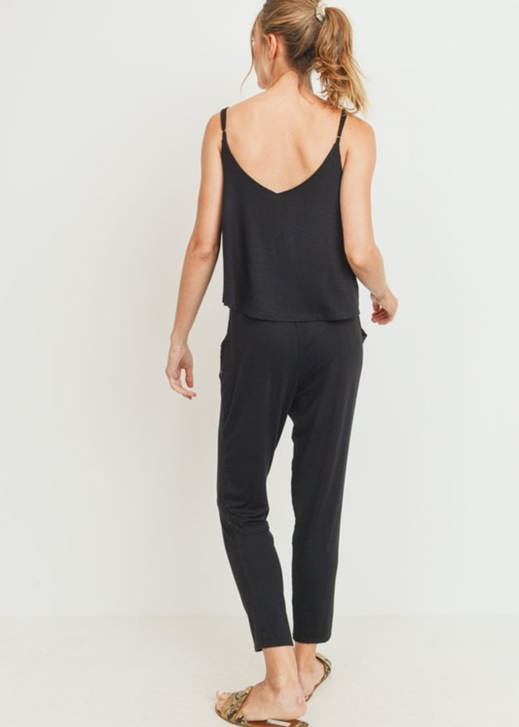 Skinny overlay jumpsuit