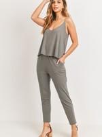 Skinny overlay jumpsuit 2 colors