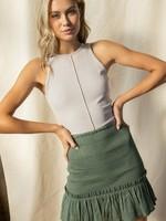 Smocked mini skirt   3 colors