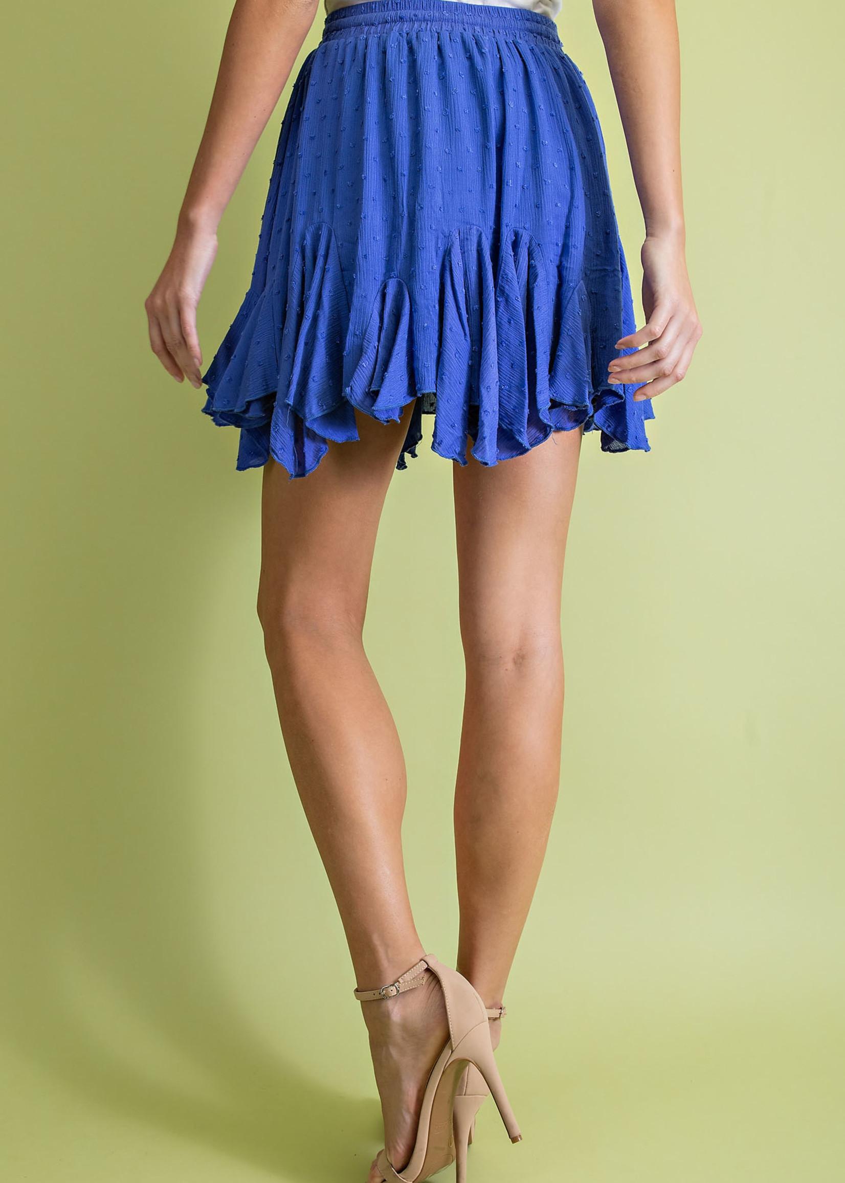Swiss dot flare skirt 2 colors